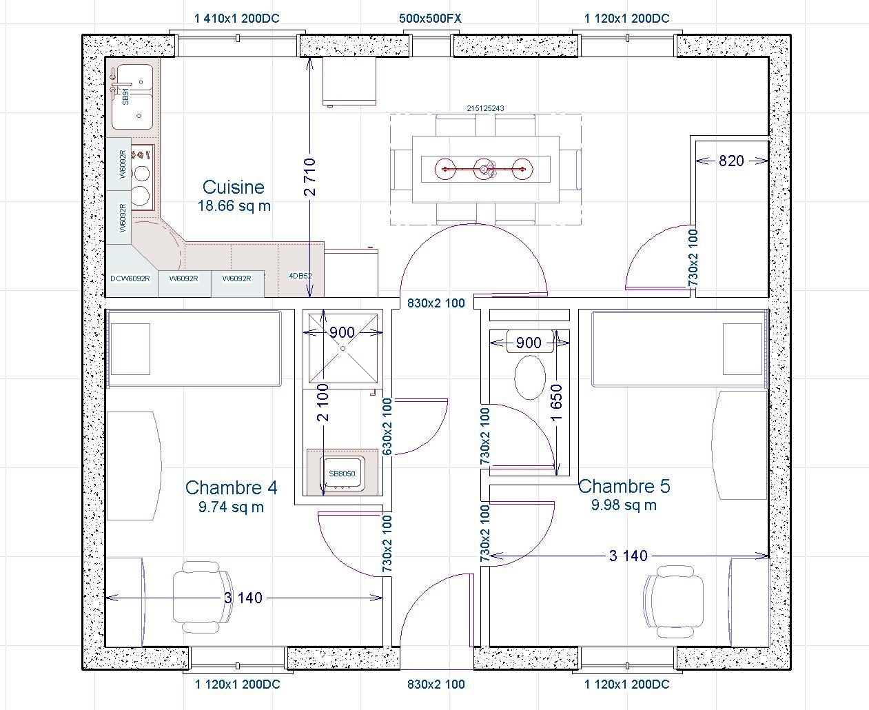 Descriptif chambres etudiants for Salle de bain avec chambre